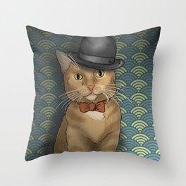 The Dapper Cat Throw Pillow