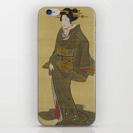 Japanese Geisha from Edo (Tokyo) iPhone Skin