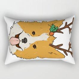 Christmas Corgi Rectangular Pillow