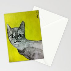 crooked kitty Stationery Cards
