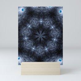 Blue Eyes Mandala Mini Art Print