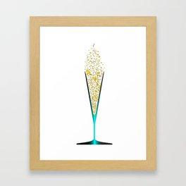 V Shaped Champagne Glasses Framed Art Print