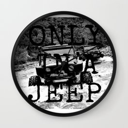 Jeeps Wall Clock