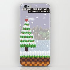 Green Hill Christmas iPhone Skin