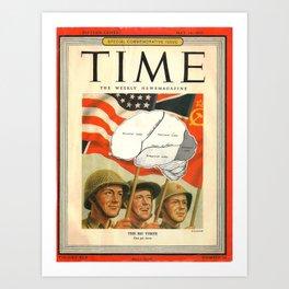 1945 Frontal Lobe Art Print