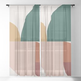 Abstract Geometric 11 Sheer Curtain