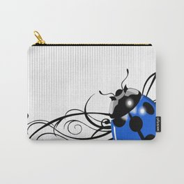 FANCY LADYBUG | blue Carry-All Pouch