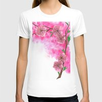 cherry blossom T-shirts featuring Cherry Blossom by Laura Thompson Art