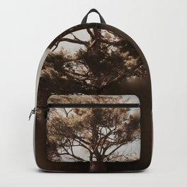 Misty Tree of Life on the Coastal Edge Backpack