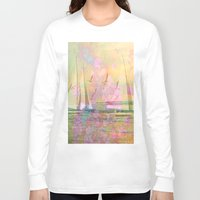 sailboat Long Sleeve T-shirts featuring Sailboat Flyby by 3crows