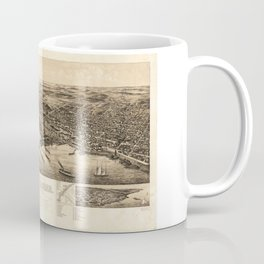 Perspective Map of the City of Duluth, Minnesota (1893) Coffee Mug