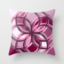 Portland Pink Throw Pillow