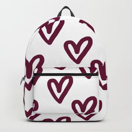 Hearts Pink & White Backpack