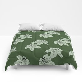 Lily The Tiger - Green Comforters