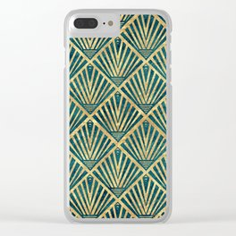 Stylish geometric diamond palm art deco inspired Clear iPhone Case