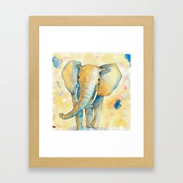 Water Color Elephant Colorful Framed Art Print
