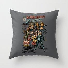 Historical Superheroes Throw Pillow