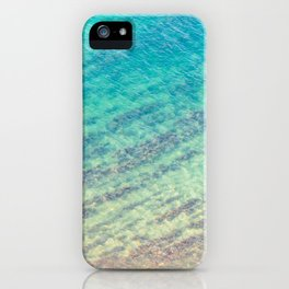 Blue Sea Texture With Seaweed iPhone Case