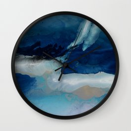 DEEP - Ocean art Resin painting, abstract seascape, coastal painting Wall Clock