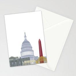 Washington DC skyline poster Stationery Cards