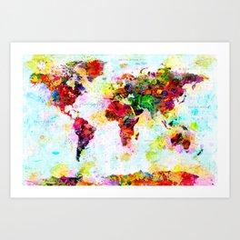 World Map - 4 Art Print
