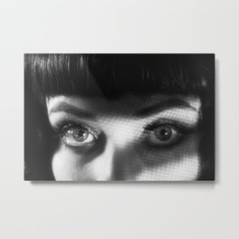 Femme Fatale Look Metal Print