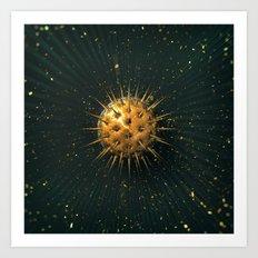 Abstract Dark Sphere Art Print