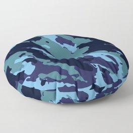 Blue Camouflage Pattern Decoration Floor Pillow