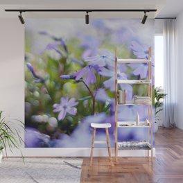 Modern Minimalist Nature Photography Close Up Of Purple Flower Natural Organic Shapes Art Print Wall Mural