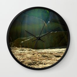 Let's Camp  Wall Clock