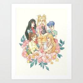 Sailor Sisters Art Print
