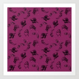 Sophisticated Berry Pattern Art Print