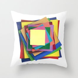 Paper Illusion Throw Pillow