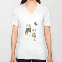 shopping V-neck T-shirts featuring shopping by Josephine Walz