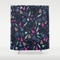 rogue Shower Curtains featuring Rogue Life by Tay Silvey