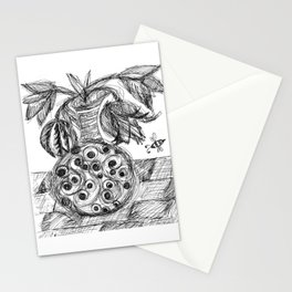 Plant in Vase Sketch Stationery Cards