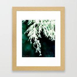 London Winter Storm 5c 2b - Green Framed Art Print