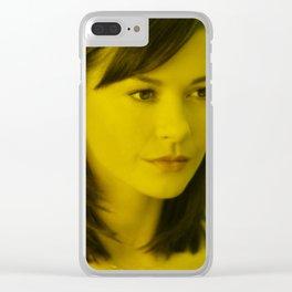Catherine Zeta - Celebrity (Florescent Color Technique) Clear iPhone Case