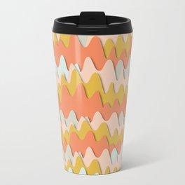 Colorful waves Travel Mug
