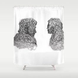 Your Father Would be Proud Line Art Shower Curtain