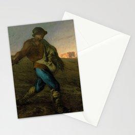 12,000pixel-500dpi - Jean-Francois Millet - The Sower - Digital Remastered Edition Stationery Cards