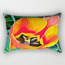 Flower in Expressive Birth Rectangular Pillow