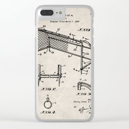 Soccer Patent - Soccer Goal Art - Antique Clear iPhone Case