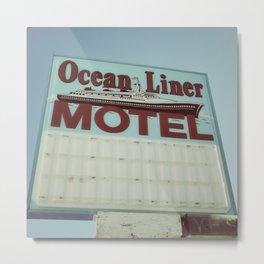 Ocean Liner Motel Metal Print