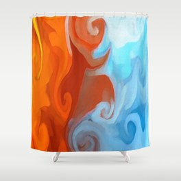 Viking Funeral Shower Curtain