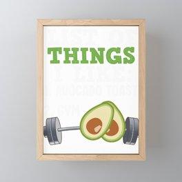Avocado is the healthy way of life Framed Mini Art Print