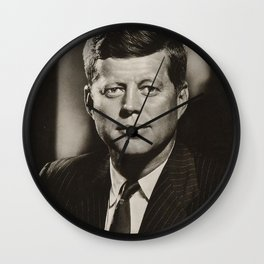 JFK John F Kennedy Wall Clock
