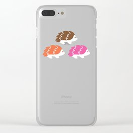 The Bashful Hedgehogs Clear iPhone Case