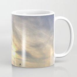 Boeing 747 Sunset Landing Coffee Mug