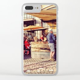 Afternoon chilling Clear iPhone Case